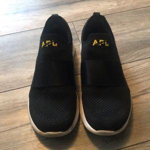 Soul cycle x APL black slip on sneakers